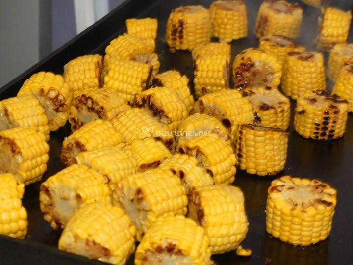Maïs à la planxa