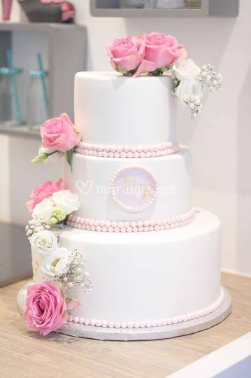 Wedding Cake Fleurs Fraîches