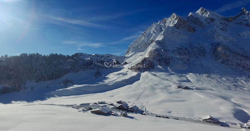 Vue Panoramique Col des Aravis