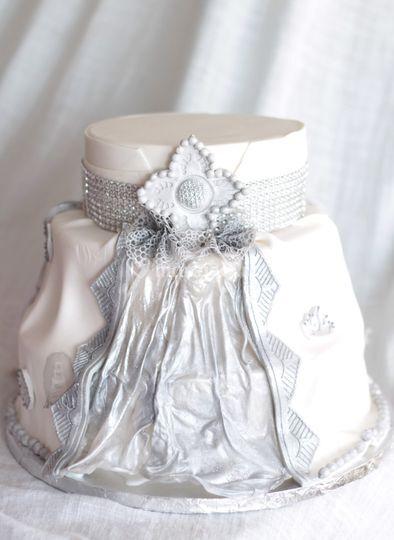 Wedding cake façon caftan