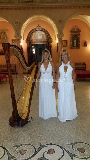 Villa avec harpe