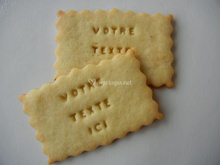 Biscuits gravés personnalisés