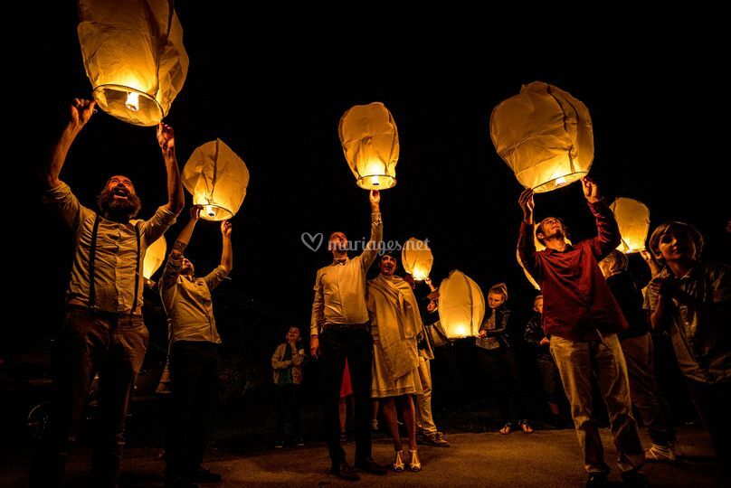 Lancement de lanterne