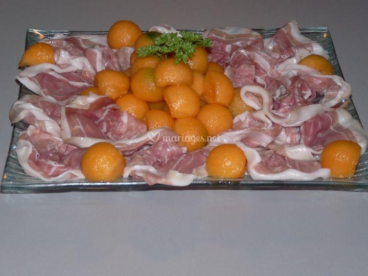 Jambon de Parme et melon