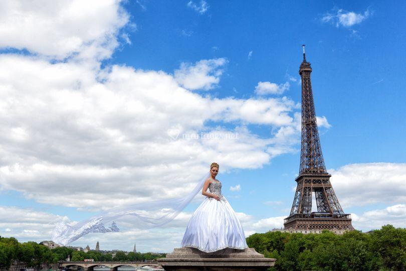 Mariée à Paris