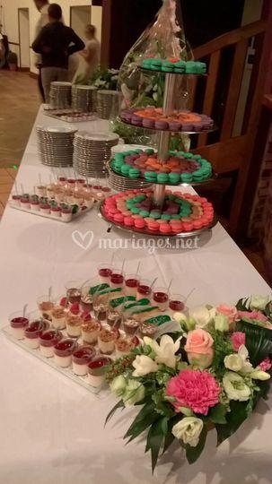 Buffet dessert et petits fours