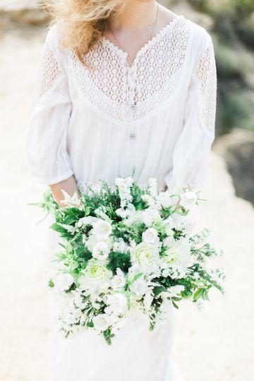 Robe de mariée bohème folk