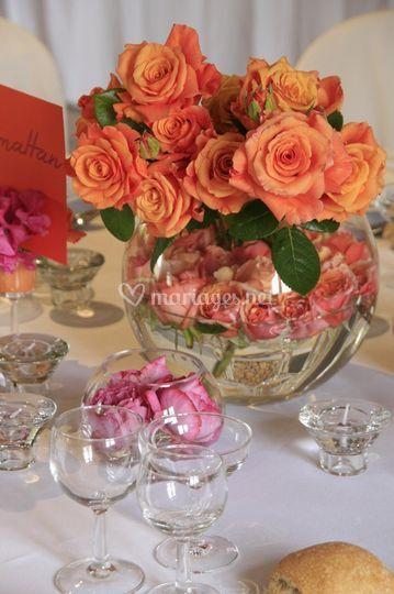 Détail décoration florale.