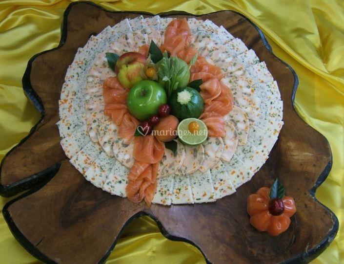Terrine de sandre aux petits légumes
