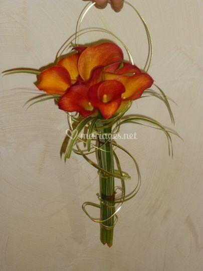 Bouquet de mariée arums