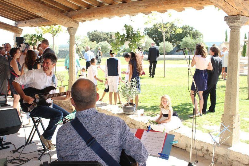 Musiciens en extérieur