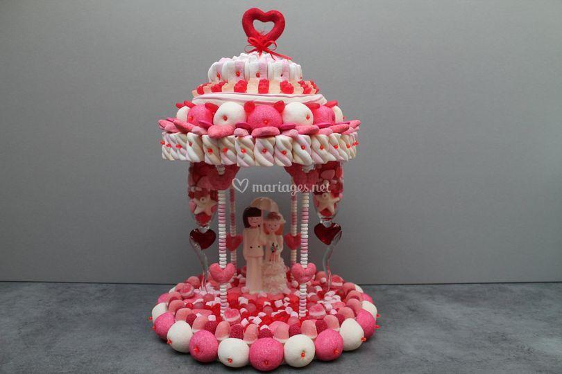 Manege rose mariage