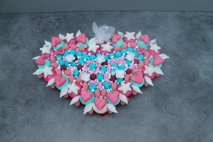 Gâteau coeur amour