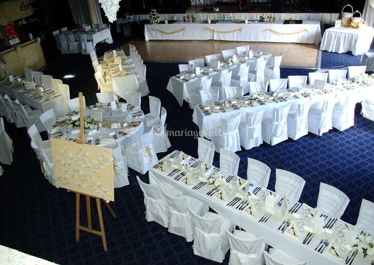 Mariage disposition tables de salle eureka photos - Disposition table de mariage ...