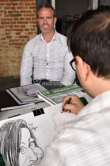 Séance de caricatures