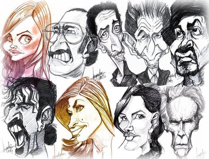 Ensemble de caricatures