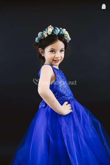Robe princesse bleu