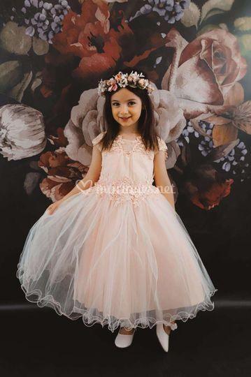 Robe princesse rose