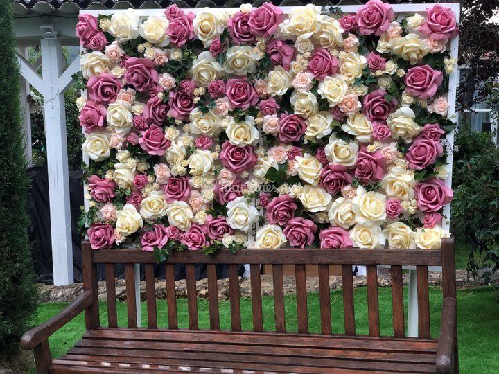 Location du mur de fleur