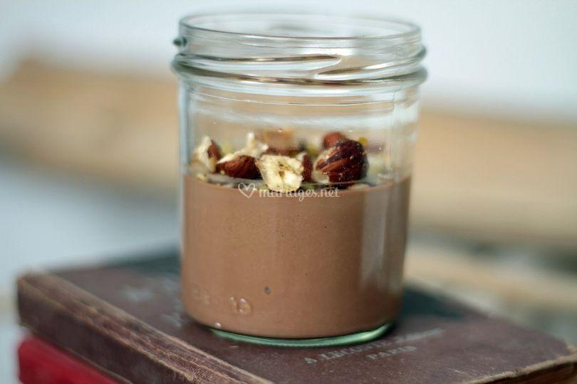 Verrine de crème au Chocolat