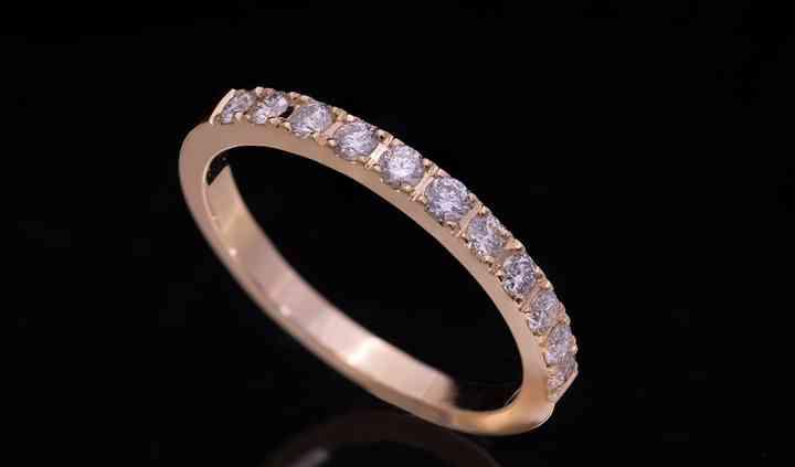 Alliance diamant micro serti - or rose
