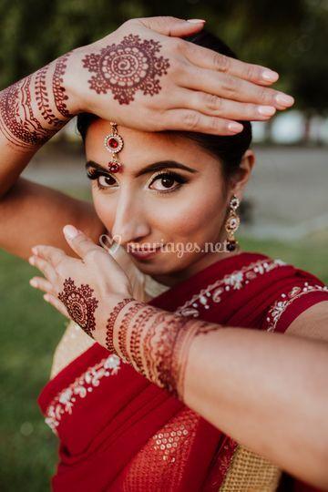 Maquillage oriental et henné