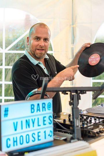 Bar à vinyles avec Olivier