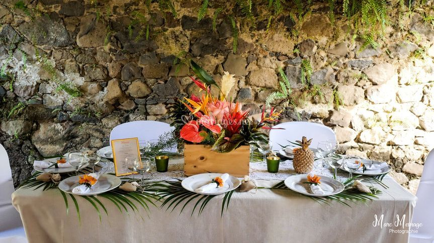 Table exotique chic