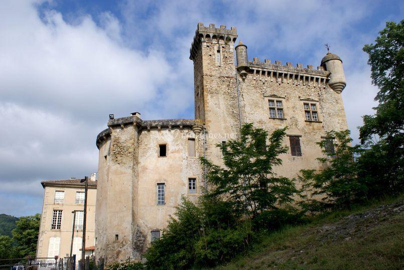 Château de Chalabre vue Est