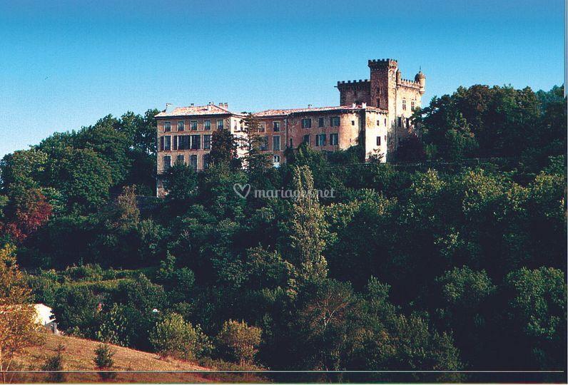 Château de Chalabre vue sud