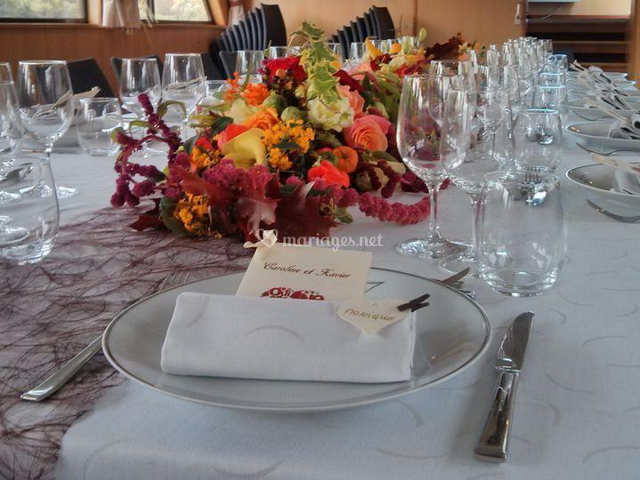 Exemple de table dressée