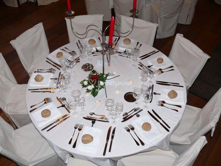 Détail d'une table dressée