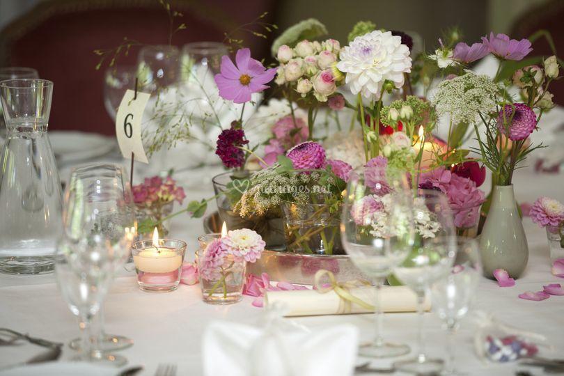 Table réception