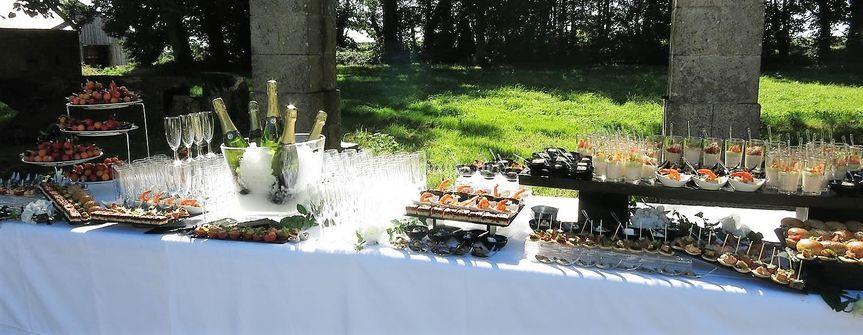 Cocktail mariage château