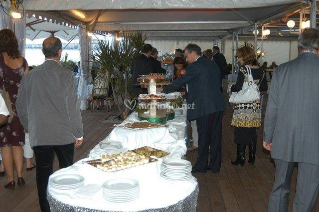 Buffet dans le restaurant