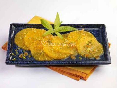 Salade d'oranges parfumée cannelle et fleur d'oranger
