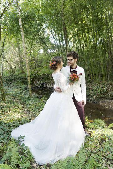 Séance photo des mariés