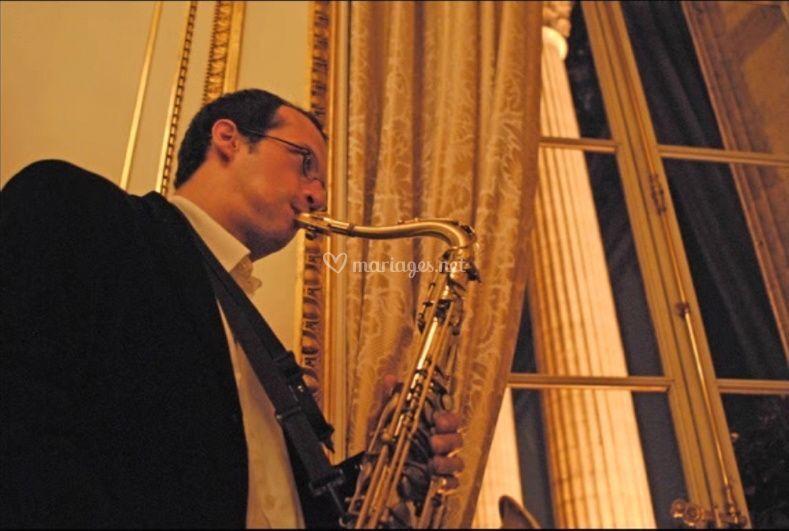 Saxo jazz à l'hotel Le Crillon