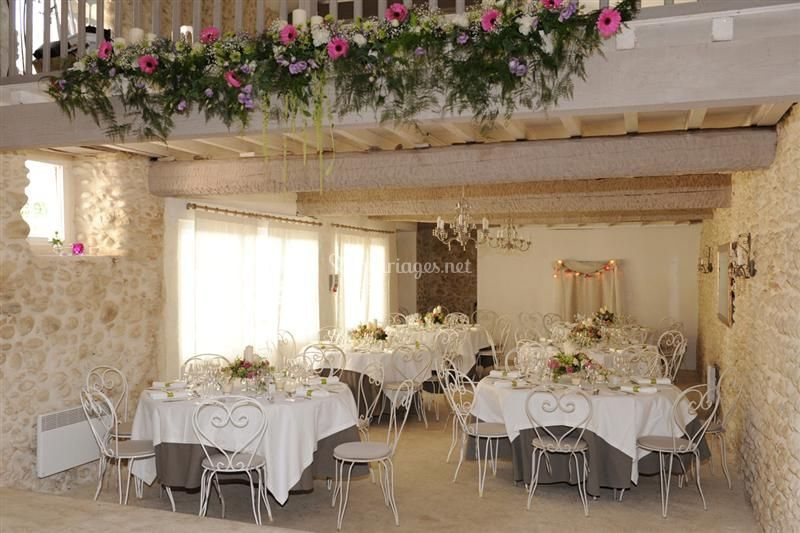 Banquet mezzanine fleurie