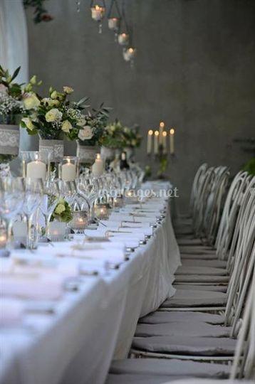 Banquet sous la pergola