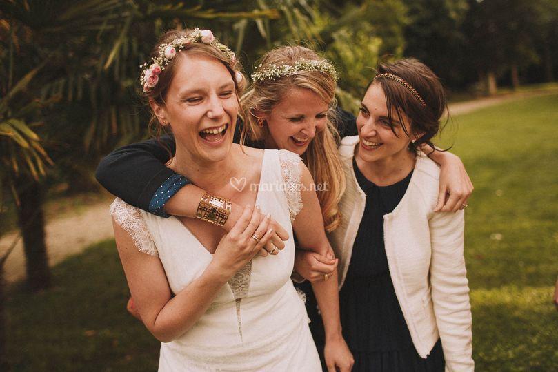 Fou rire de la mariée