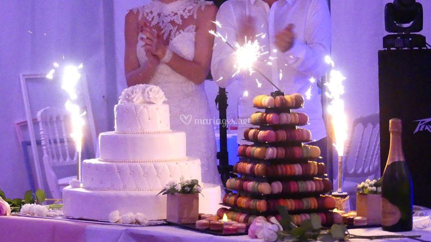 Wedding cake et macarons