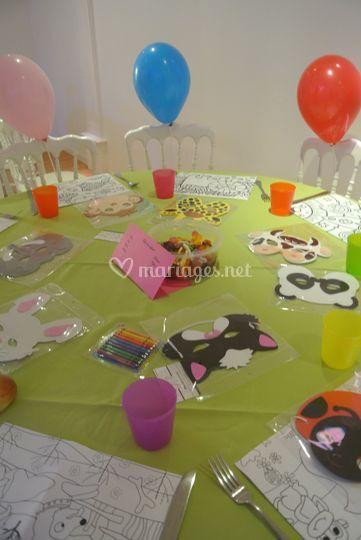 Table des enfants
