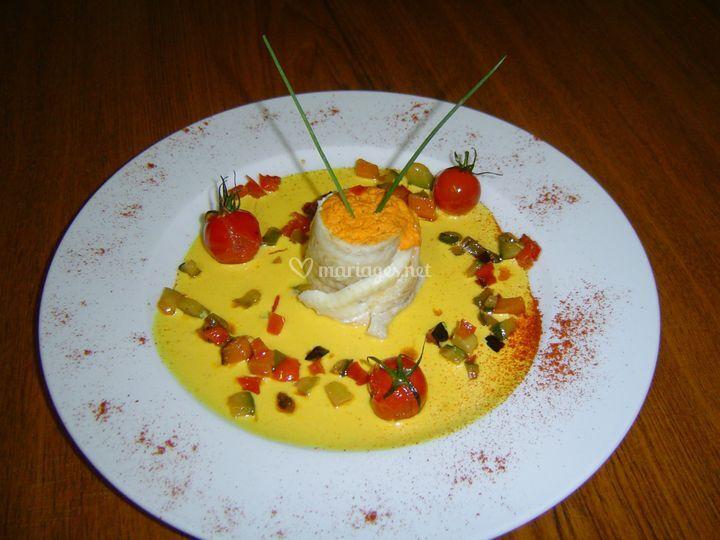 Filet de sole, sauce safran