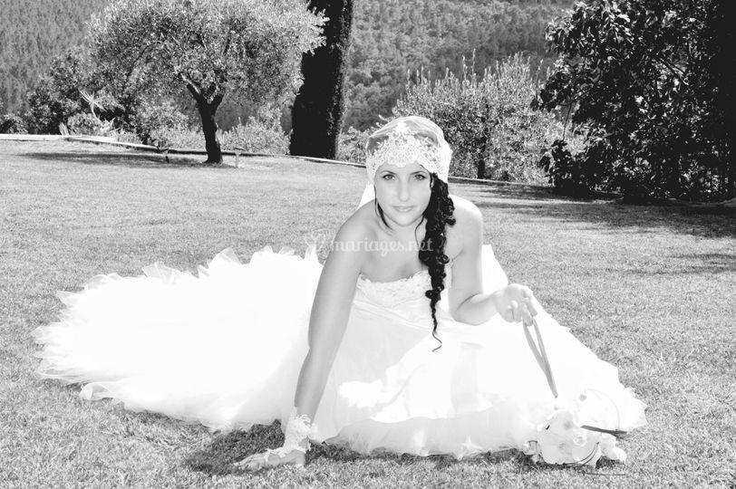 La mariée en noir et blanc