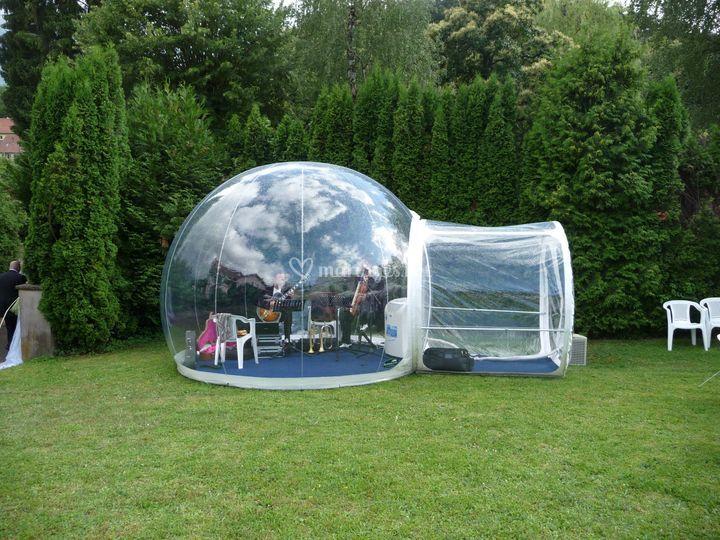 Jazz Band dans une bulle