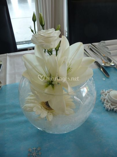Composition florale de table