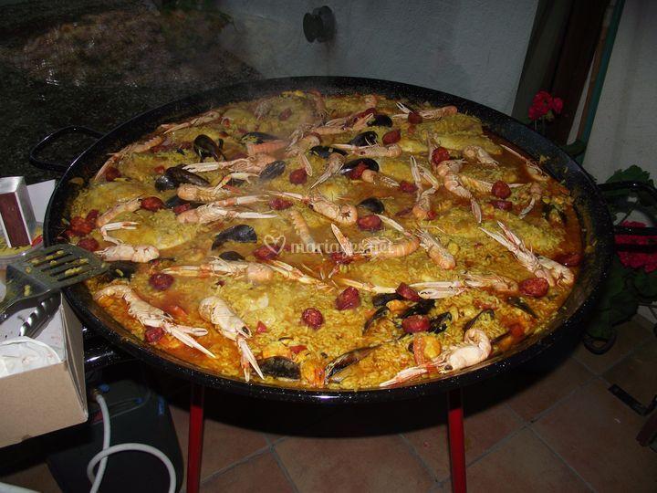 Paella pour anniversaire