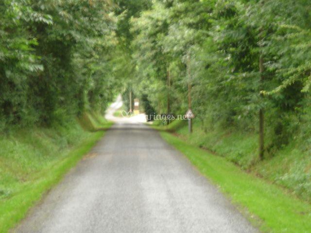 arrive au domaine sur domaine de la pommeraye - Domaine De La Pommeraye Mariage