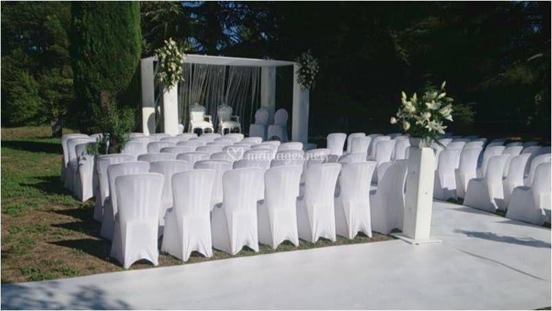 Possibilité d'organiser votre cérémonie en plein air